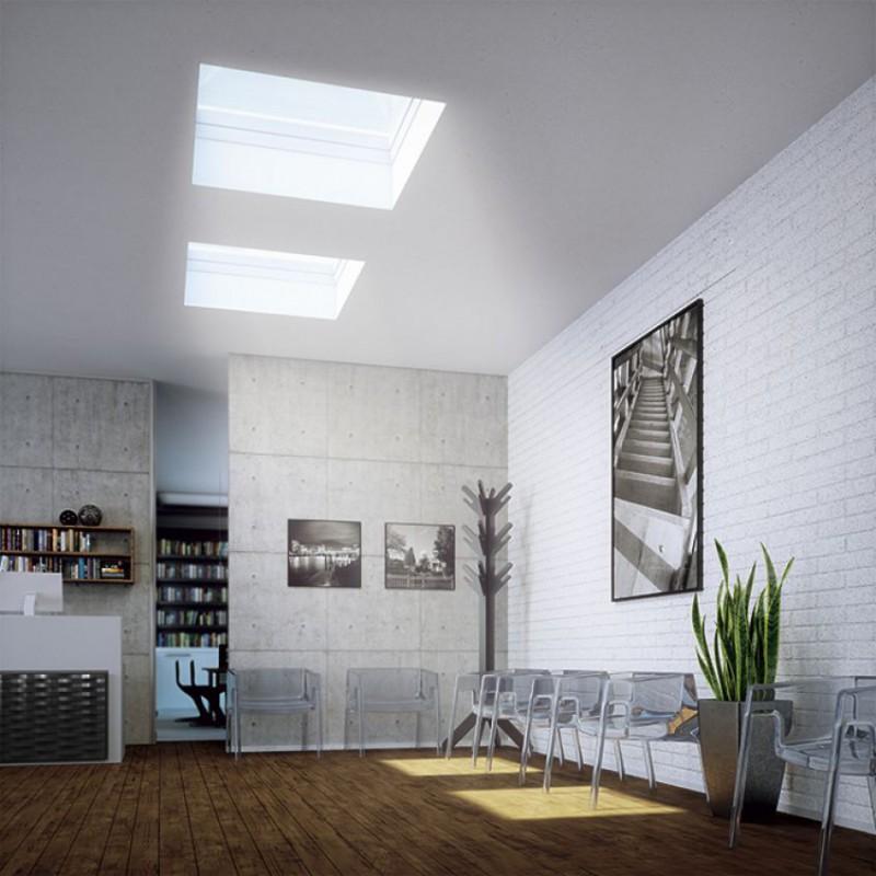 Okno dachowe otwierane elektrycznie fakro dec c u8 for Fenster 60x90